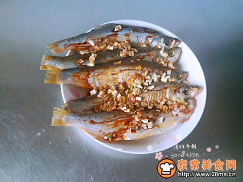#网红美食我来做#一锅二吃快捷清蒸咸鱼的做法图解3