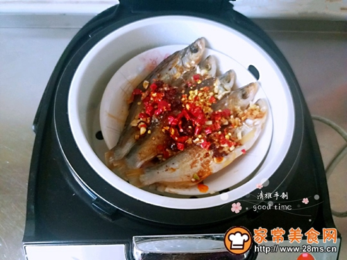 #网红美食我来做#一锅二吃快捷清蒸咸鱼的做法图解7