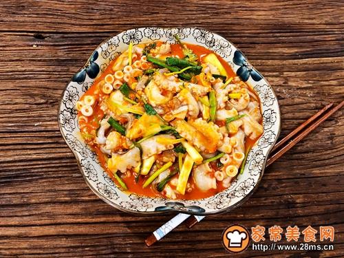 韩式辣拌活章鱼的做法图解4