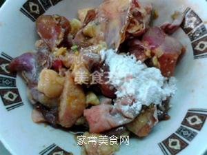 榛蘑蒸鸡的做法步骤:7