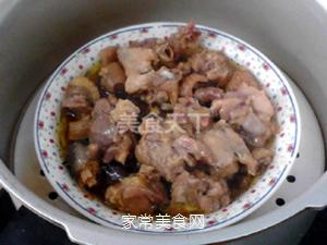 榛蘑蒸鸡的做法步骤:12