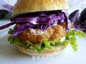 香辣鸡肉汉堡的做法步骤:10