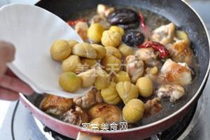 无油香菇栗子鸡的做法步骤:12