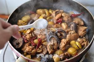 无油香菇栗子鸡的做法步骤:13