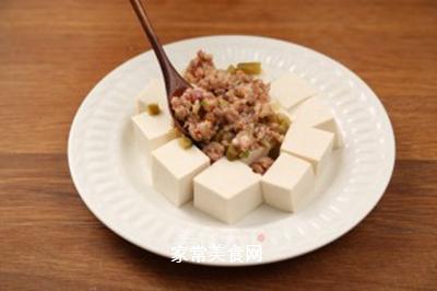 肉末蒸豆腐的做法步骤:6