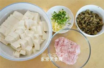 肉末蒸豆腐的做法步骤:1