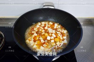 榨菜肉末烩豆腐的做法步骤:8