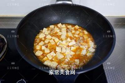 榨菜肉末烩豆腐的做法步骤:9