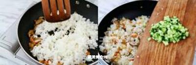 简易家常炒饭的做法步骤:6