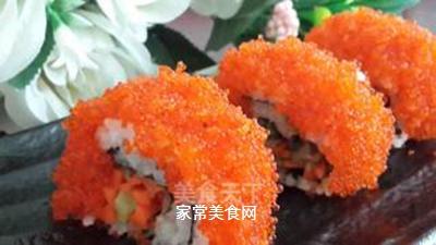 鱼子反转寿司的做法步骤:9