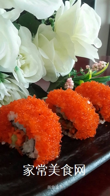 鱼子反转寿司的做法