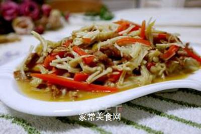 肉丝炒金针菇的做法步骤:8