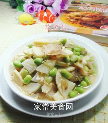 榨菜冬笋炒毛豆的做法