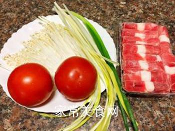 酸汤肥牛(番茄浓汤版)的做法步骤:1