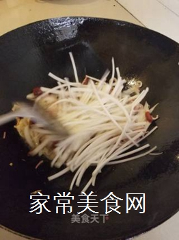 会理特色炒饵块的做法步骤:8