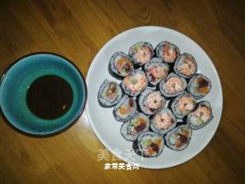 海鲜腊肠寿司的做法步骤:5
