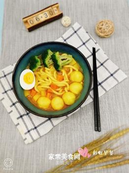 日式咖喱鱼丸乌冬面的做法