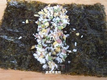 海苔饭卷的做法步骤:9
