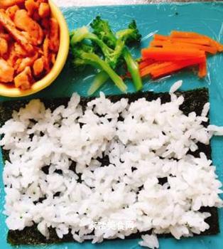 三文鱼海苔卷的做法步骤:6