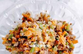 藜麦牛肉杂蔬饭团的做法步骤:5
