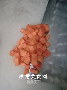 肉末南瓜酱软饭的做法步骤:3