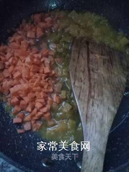 肉末南瓜酱软饭的做法步骤:7