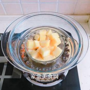 苹果燕麦糊的做法步骤:3