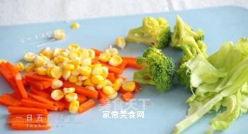 杂蔬鳕鱼饭团的做法步骤:2
