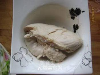 黄豆芽拌鸡丝的做法步骤:6