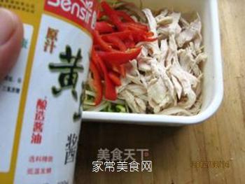 黄豆芽拌鸡丝的做法步骤:9