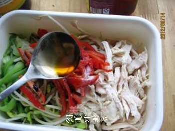 黄豆芽拌鸡丝的做法步骤:12