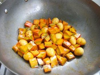 不一样的美味——鹌鹑蛋烧南瓜的做法步骤:7