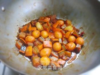 不一样的美味——鹌鹑蛋烧南瓜的做法步骤:13