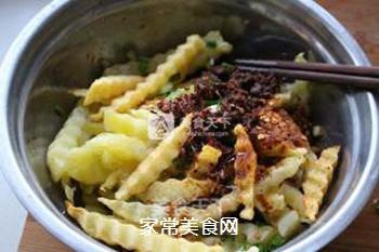 狼牙土豆――街边小食搬回家,健康又美味的做法步骤:8