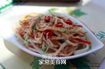 炎炎夏日吃什么?四川传统小吃【鸡丝凉面】的做法步骤:8