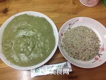 青汁糯米糍的做法步骤:7