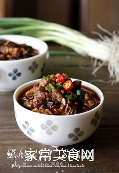绵阳人最爱的早餐米粉臊子-----牛肉干笋臊子的做法