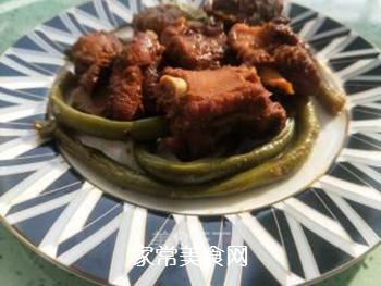 红烧排骨炖豆角的做法步骤:11