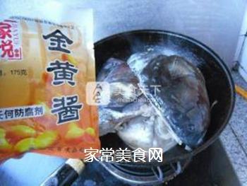 酱焖鱼头的做法步骤:8