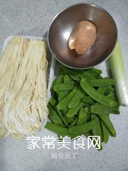 荷兰豆炒金针菇的家常做法