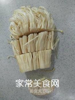 荷兰豆炒金针菇的做法步骤:2