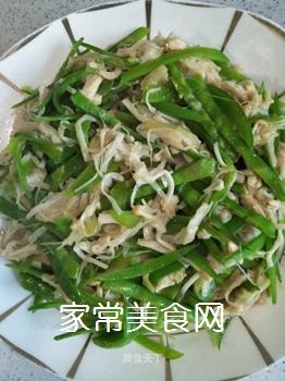 荷兰豆炒金针菇的做法