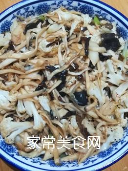 干煸杏鲍菇菜花的做法