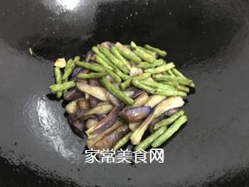 四季豆炒茄子的做法步骤:8