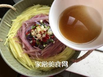 炝拌土豆丝的做法步骤:7