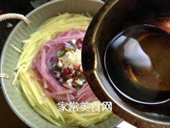 炝拌土豆丝的做法步骤:8