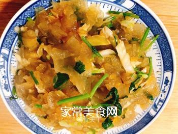 酸包菜炒粉皮的做法