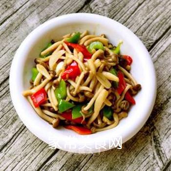 小炒蟹味菇的做法步骤:7