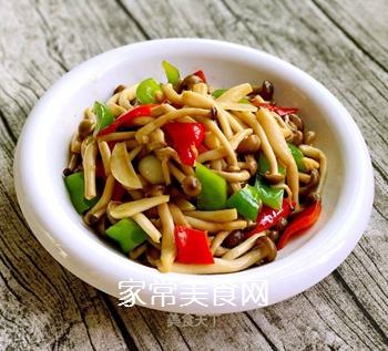 小炒蟹味菇的做法