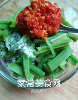 蒜辣酱拌贡菜的做法步骤:4